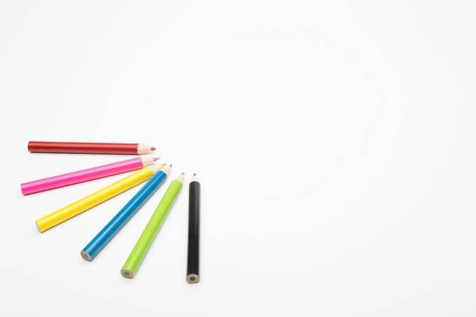 色鉛筆と余白