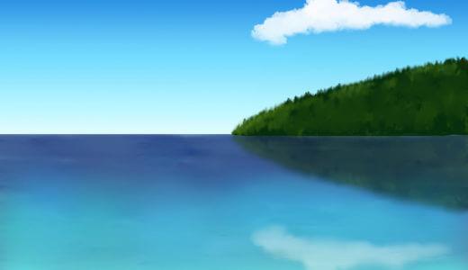 水面に鏡面反射したような画像をクリスタで作る〜CLIP STUDIO〜
