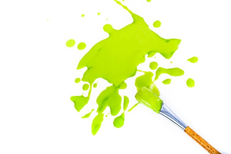 緑色の絵の具