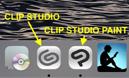 CLIP STUDIOとCLIP STUDIO PAINTアイコン